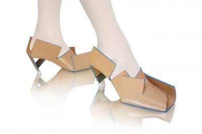 Netradiční boty na podpatku: Beigefoldedshoe od Marloes ten Bhömer ...