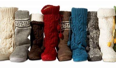 Pletené boty: Buďte originální! / Zimní obuv 2009 — Móda Blog