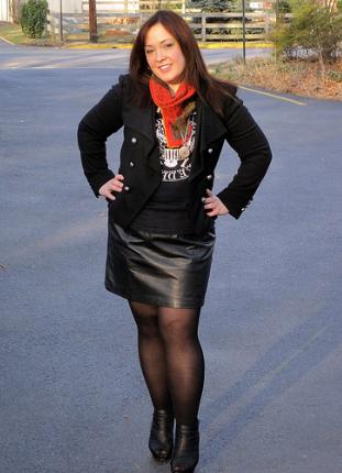 4a8b26e14f9 černou můžete rozsvítit nějakou výraznou barvou  zdroj  Leather fashion  fashionista flickr.com